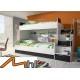 PARADISE 2 - łóżko piętrowe czarny połysk