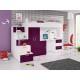 PARADISE 4S - łóżko piętrowe fiolet