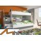 PARADISE 2 - łóżko piętrowe fioletowy połysk