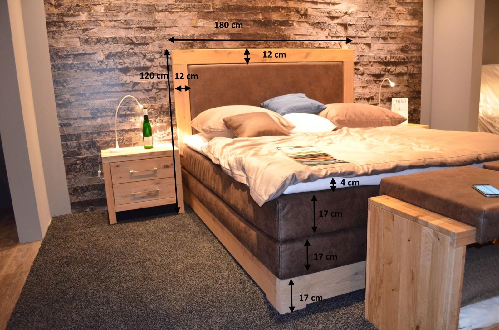 Łóżko dębowe - wymiary